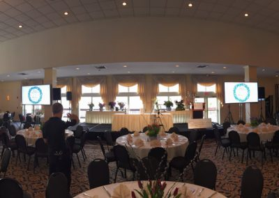 Setting up Audio video and Lightning for Atkinson Country Club